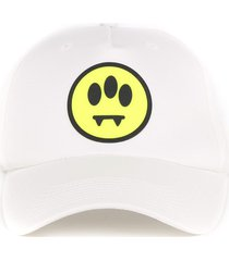 barrow white cotton smile print hat