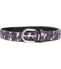 isabel marant tie-dye print belt - purple