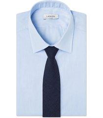 cravatta su misura, loro piana, lana blu, quattro stagioni | lanieri