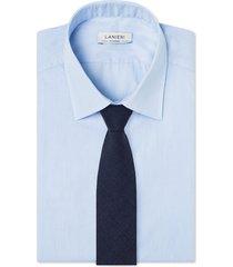 cravatta su misura, loro piana, lana blu, quattro stagioni