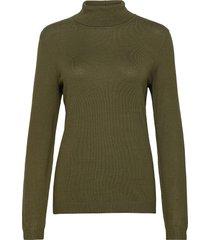 vibolonia rollneck l/s knit top-fav turtleneck polotröja grön vila