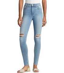 joe's jeans women's charlie high-rise distressed skinny jeans - wallflower - size 26 (2-4)