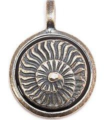 'ammonite' silver charm