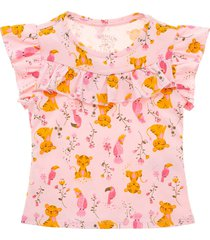 camiseta manga corta rosa  offcorss