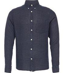 clean linen slim shirt skjorta casual blå j. lindeberg