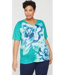 brushstroke floral top