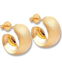argola le diamond chapa rasurada dourada