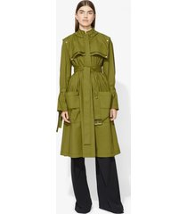 proenza schouler belted trench coat moss/brown 8