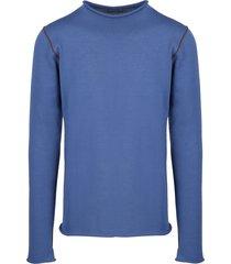 jil sander contrasting profiles sweater