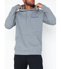 calvin klein jeans small instit reg hoodie tröjor grå