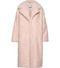 clara coat outerwear faux fur roze stand studio