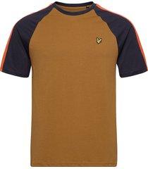 colour block t-shirt t-shirts short-sleeved brun lyle & scott