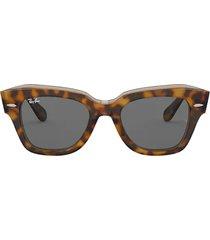 ray-ban ray-ban rb2186 havana on transparent brown sunglasses