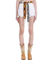 laneus shorts in white denim