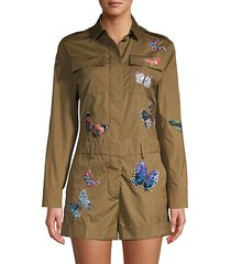 embroidered butterfly jumpsuit