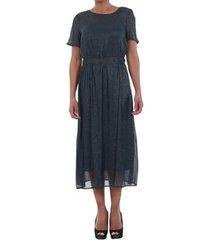 lange jurk vero moda 10195121 vmsilvia dot navy blazer/silver dots