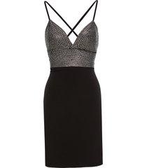 abito elasticizzato (nero) - bodyflirt boutique