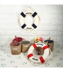 lifebuoy ring foam home nautical wall hanging showcase room special decor party