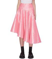 draped asymmetric hem skirt
