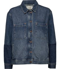 worker jacket jeansjacka denimjacka blå superdry