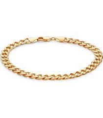 effy men's 14k goldplated sterling silver curb chain bracelet