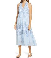 women's vineyard vines diamond print halter midi dress