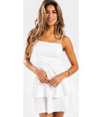 allison tiered mini dress - white