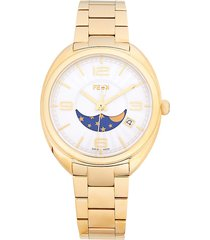 fendi goldtone stainless steel bracelet watch