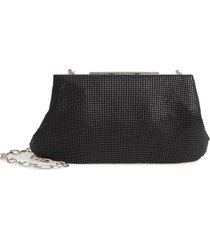whiting & davis mesh frame clutch -