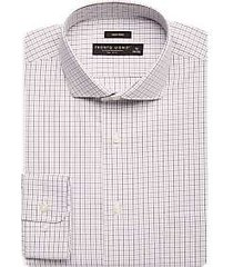 pronto uomo black & gray grid dress shirt