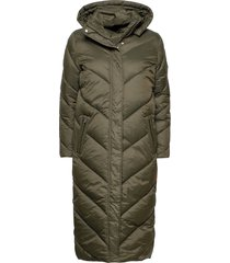 catjasz long jacket gevoerde lange jas groen saint tropez