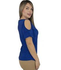 blusa chifon unicolor doble capa azul aguamarina ref 77283537