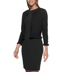 dkny lace-back open-front cardigan