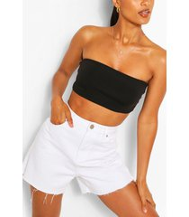 recycled basic bandeau top, black
