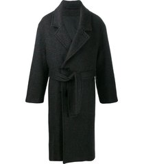 lemaire belted midi coat - black