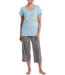 hue women's seeds of hope t-shirt & capri pants pajama set
