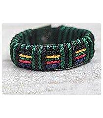 men's wristband bracelet, 'kente spirit' (ghana)
