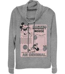 fifth sun juniors disney mickey classic original mickey fleece cowl neck sweatshirt