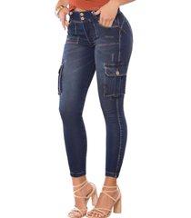 cargo push up samaná azul marino tyt jeans