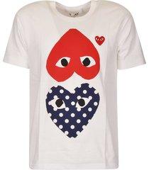 comme des garçons logo heart print t-shirt