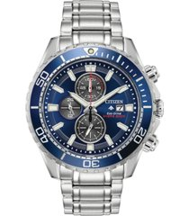 citizen eco-drive men's chronograph promaster diver stainless steel bracelet watch 46mm