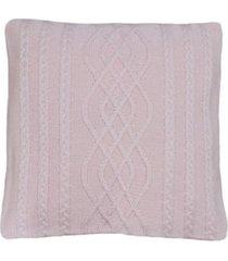 capa almofada tricot 40x40cm c/zãper sofa trico cod 1026 rosa bebe - azul - feminino - dafiti
