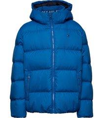 essential down jacket gevoerd jack blauw tommy hilfiger