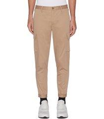 cargo pocket cuffed slim tailored pants
