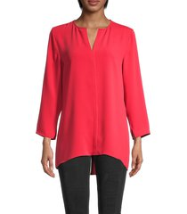 nic+zoe women's harbour town tunic top - cosmo red - size xs