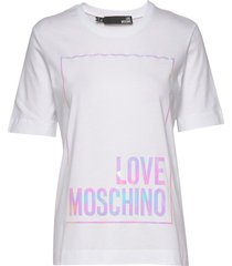 love moschino t-shirt t-shirts & tops short-sleeved vit love moschino