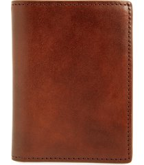 men's nordstrom marco leather card case - brown