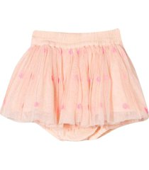 stella mccartney kids pink skirt with embroidery