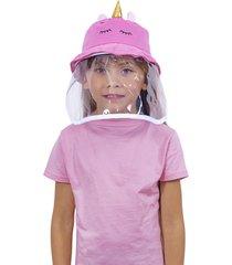 gorro con protección unicornio bium rosa 1 a 4 años sfpc30