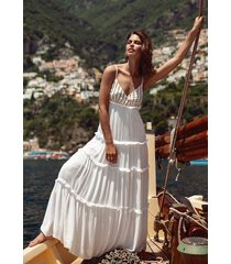 sundress ulla dress white/gold